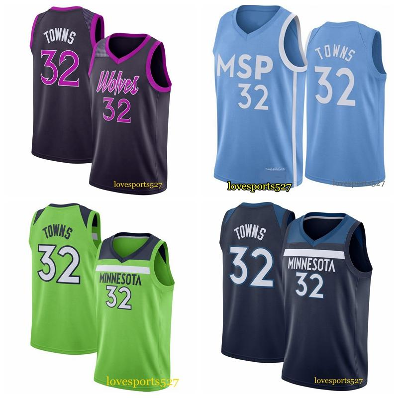 Karl-Anthony 32 Kasabalar Kevin 21 Garnett Andrew 22 Wiggins Mavi Basketbol Formaları Erkek MinnesotaTimberwolvesJersey 0909