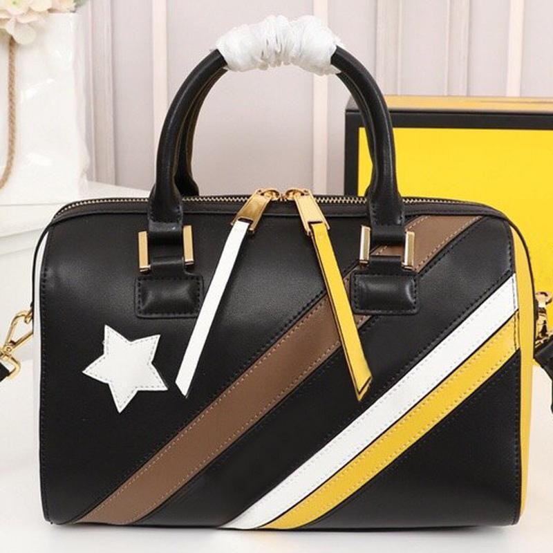Genuine Leather Handbag Tote Bag Wide Shoulder Strap Bag Classic F Letter Crossbody Bags Travel Duffle Luggage Bag Women Hand Bags Wallet