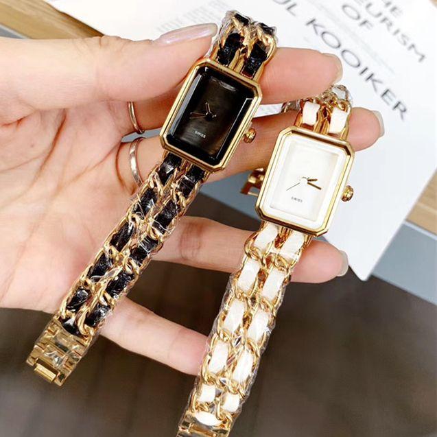 Лучшие дизайн женские часы Высококачественная стальная браслет цепь роскошный сексуальный квадратный циферблат лица леди наручные часы нобелевский женский кварцевый