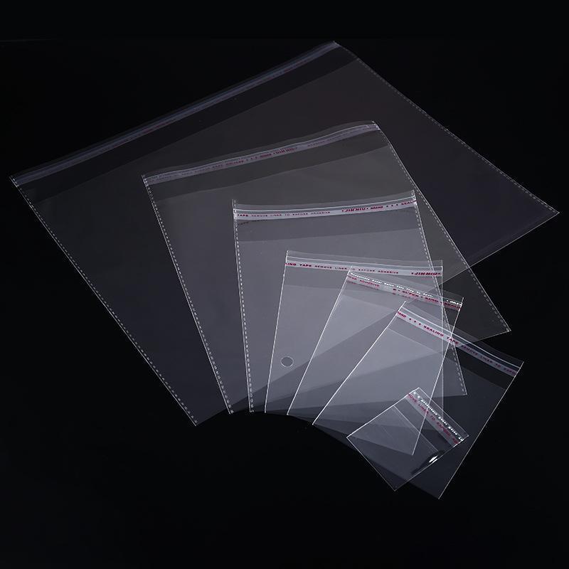 Упаковка Сумка Сумка Multiple самостоятельного Размер Cello сумке пластиковых конфеты Малого Resealable Самоклеящаяся Clear для запечатывания целлофан xhlight Djefd