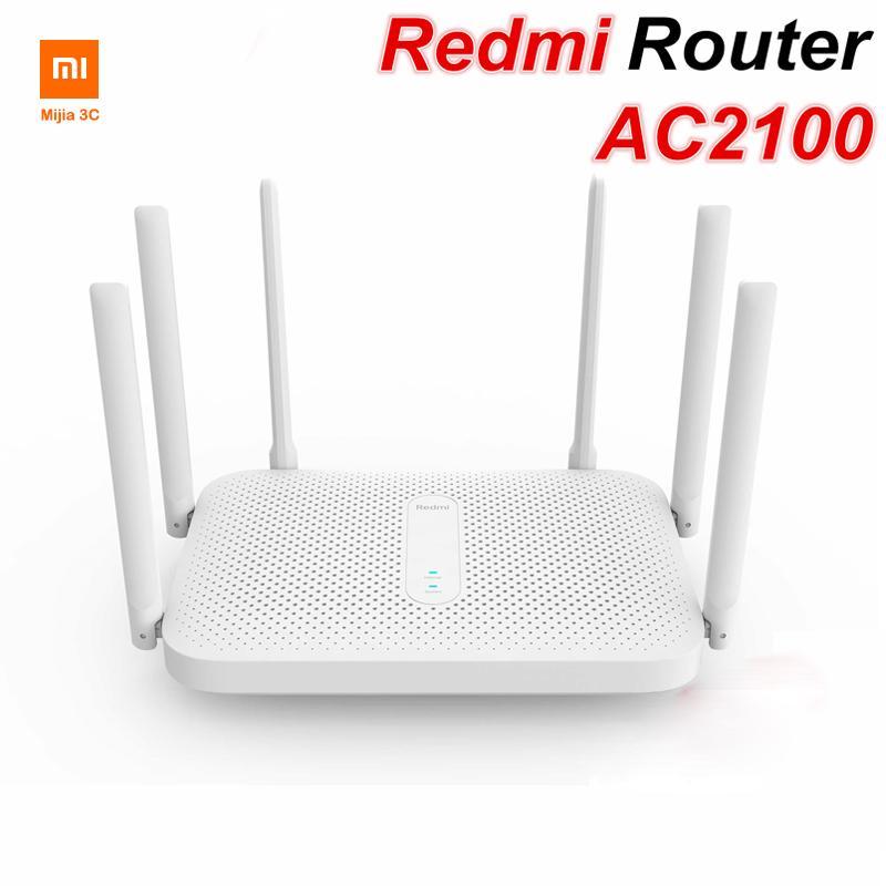 Xiaomi Youpin Redmi AC2100 Маршрутизатор Gigabit Двухдиапазонный беспроводной маршрутизатор WiFi Repeater с 6 высоким усилением антенн более широкий охват Простая настройка