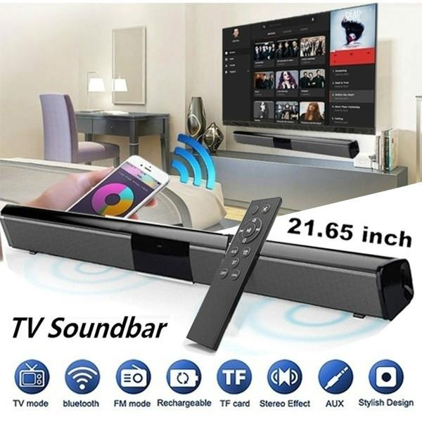 2020 Luxury Upgrade Best Sound Quality Wireless Bluetooth Soundbar Speaker TV Home Theater Soundbar Subwoofer with RCA Line