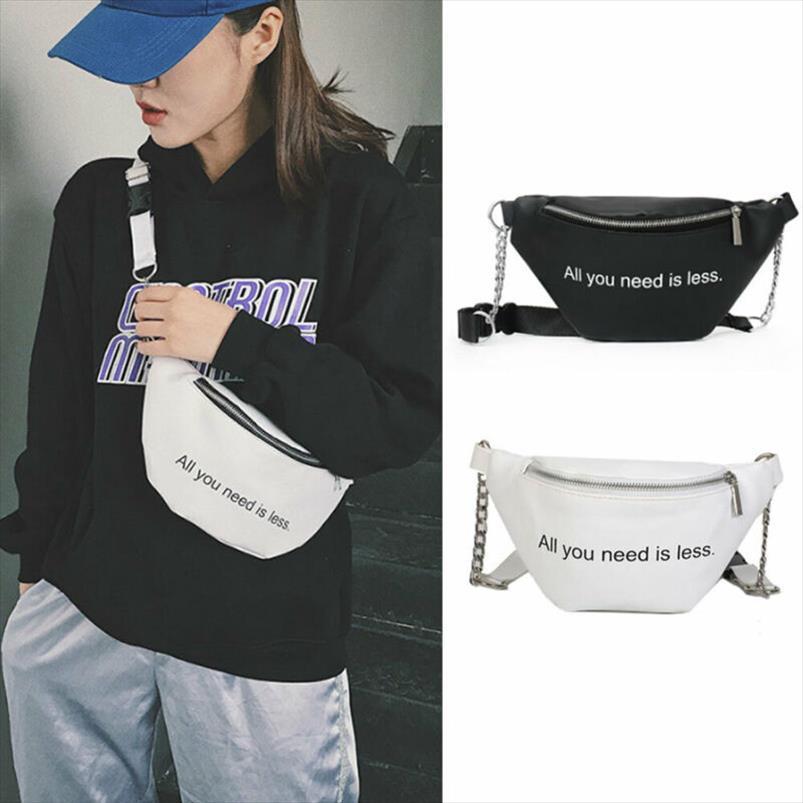 Hip mulheres Letter Moda PU cintura Bloco de Fanny Travel Bag Belt Bum Bag pequena bolsa Peito Pouch NOVO