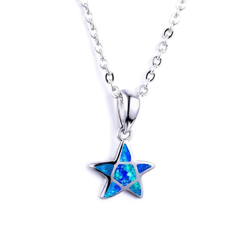 Nuevo estilo marino regalo pentagrama collar de la manera del collar de circón azul para las mujeres 2020 joyería