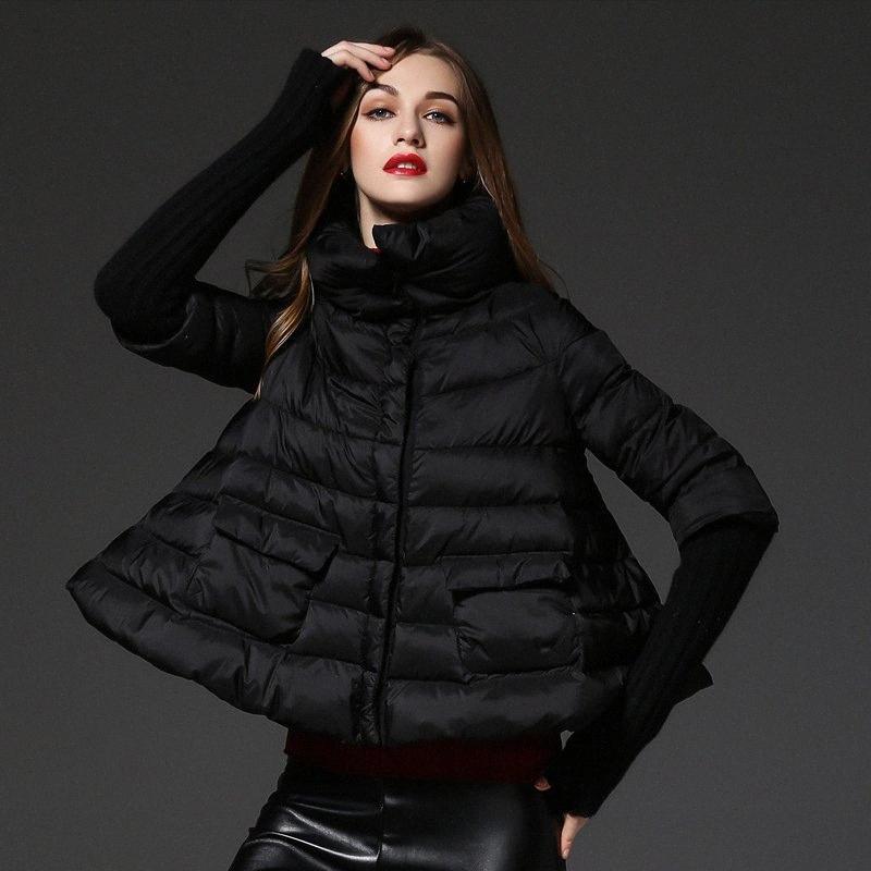 Taglio ampio mantello stile piume d'anatra bianca Piumini Donna cappotti autunno inverno 2018 nuova collezione lQ1m #