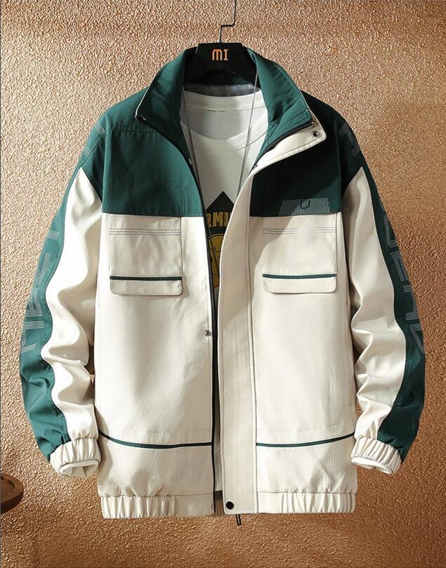 2020 nouvelle mode Veste coupe-vent Hommes manches longues Slim FIT Vestes d'hiver Vêtements Zipper avec manteau Motif Lettre animal M-4XL
