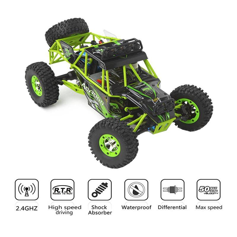 WLtoys 12428 4WD 1/12 2.4G 50km/h Electric Brushed RC Buggy Off-road Toys High Speed Climbing Race Remote Control Car Toy