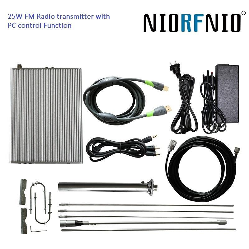 Funzione di controllo PC NIO-25W 87.5-108MHz Professional Broadcast Radio Station Trasmettitore FM / Exciter