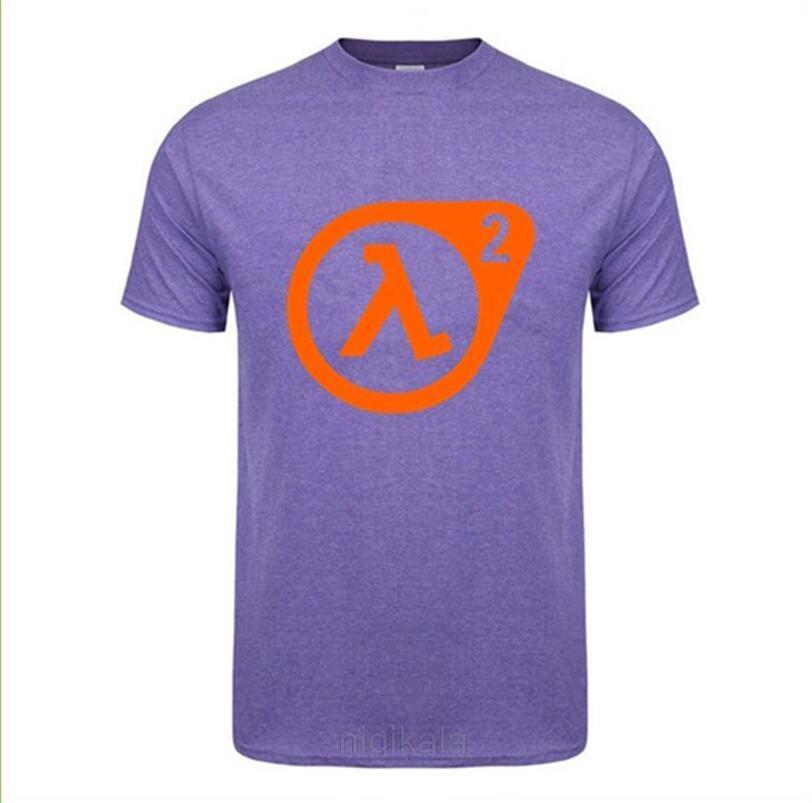 2020 Moda Casual Camiseta Homme Half Life Logo T Shirt Men Cotton Impresso Vestuário Half Life 2 T-shirt Camiseta masculina