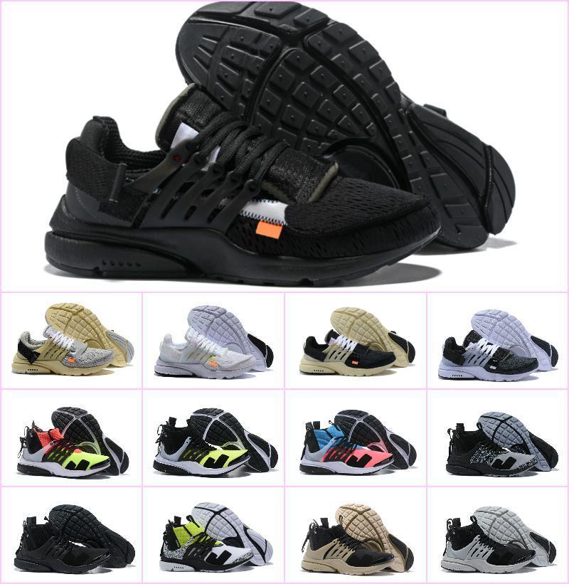 2019 Nouveau Presto original V2 Ultra BR TP QS Noir X Chaussures de course Pas Cher Femmes Hommes aI prestos off Chaussures Sneakers Blanc