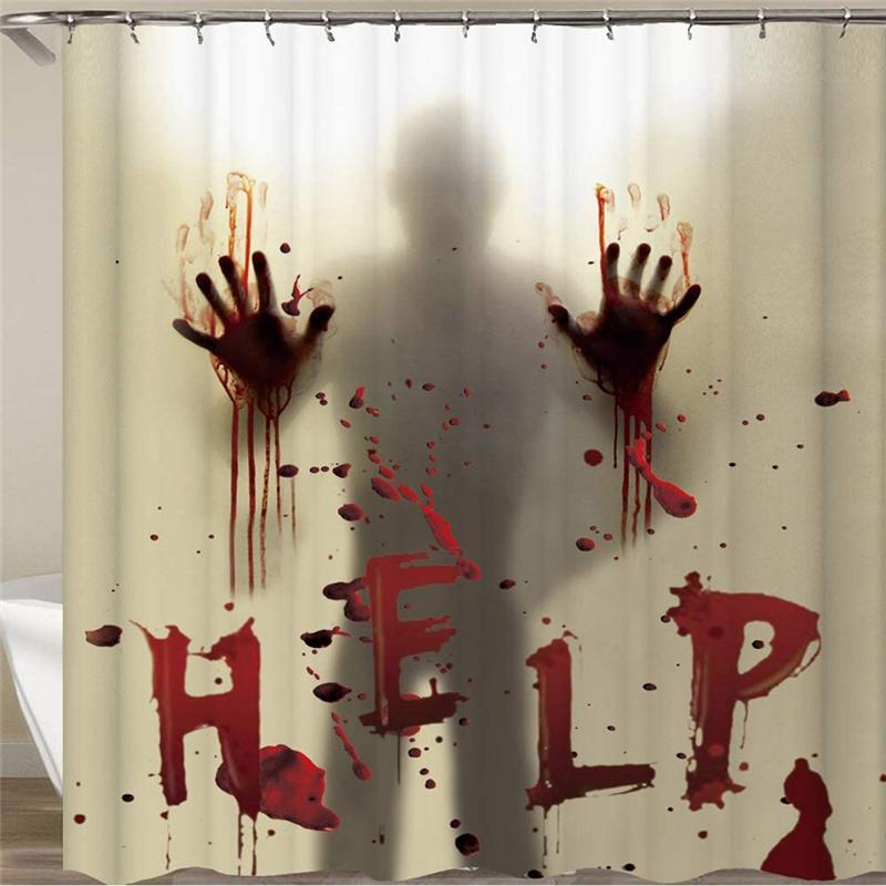 Halloween Shower Curtain Liner window Tenda mani insanguinate per Halloween Decorazione Bagno Decor 71 pollici JK2009XB