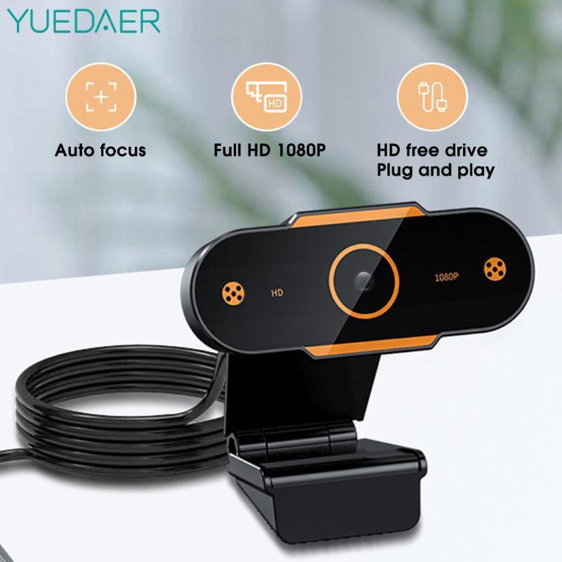 2K Веб-камера Full HD 1080P веб-камера для компьютера USB веб-камера с микрофоном Автофокус веб-камеры для конференции Live Streaming