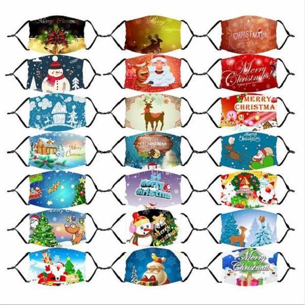 2020 Маски Рождество Санта-Клаус лица Spoof клоун череп оленя Дерево маска мультфильм пыле маска с РМ2,5 Фильтр для взрослых детей Childre