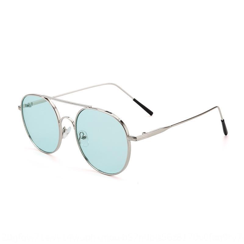 I0rMR 2020 nuevo sol UV a prueba al aire libre de las mujeres de los vidrios de hueco-hacia fuera todo-fósforo de moda del metal sombrilla vasos JB3827