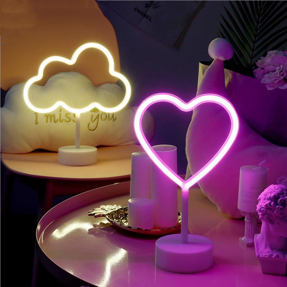 Decoração da parede LED Night Light Lâmpada decorativa Neon Light para sala de estar quarto Presentes Xmas Brinquedos aniversário do partido dos miúdos 17 estilos