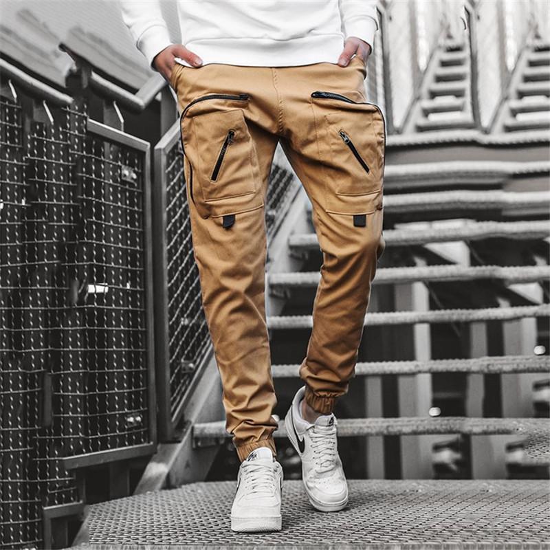 Повседневные брюки мужчина New Military Tactical Joggers Cargo Sweatpants Mens Спортивная одежда Твердый карандаш штаны Multi-карман брюки тренировка 200925