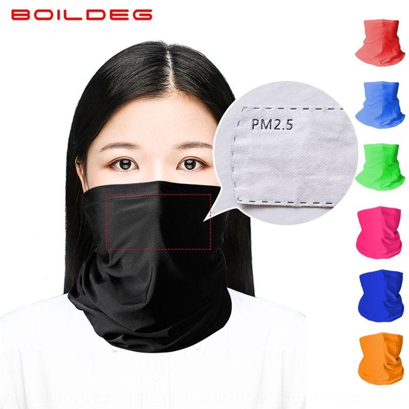 Ozuzo Boildegboiling filtro de máscara en bicicleta a prueba de polvo de la bicicleta de la bicicleta pañuelo protector solar al aire libre del pañuelo de seda de hielo máscara de ciclismo