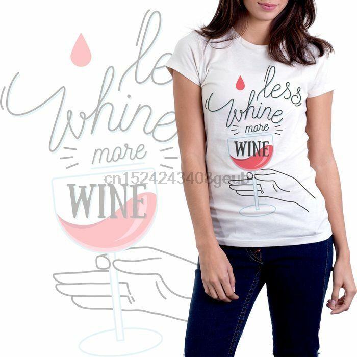 Lustige Frauen-T-Shirt -Weniger Gejammer mehr Wein -FREE SHIPPING- [P5F] BRAND NEW