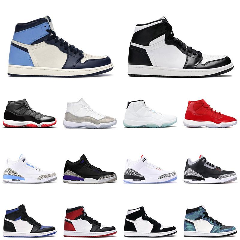 1 mens basketball shoes 1s obsidian royal toe women sneakers 11s bred gamma blue court purple men women trainer 스포츠 운동화
