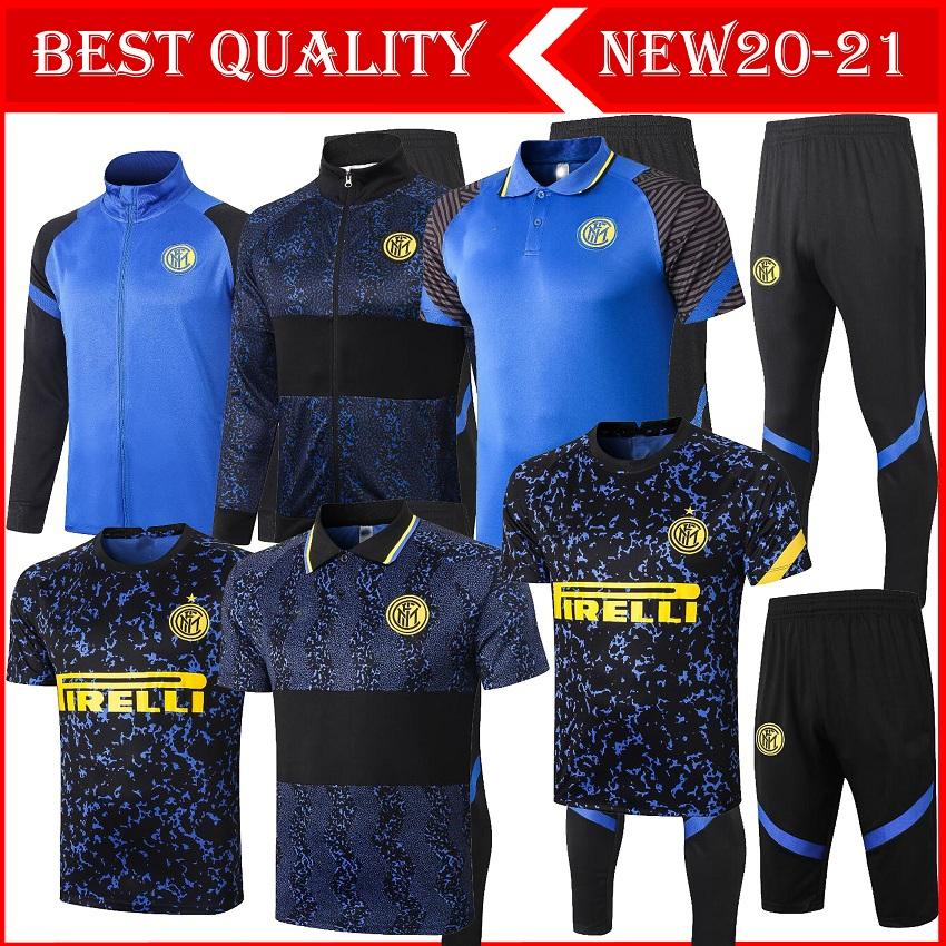 2020 2021 Inter Fußballtrainingsjacken-Kits 20/21 survêtement ALEXIS Lukaku LAUTARO MILAN Fußballtrainingsanzug Trainingsjacke Set
