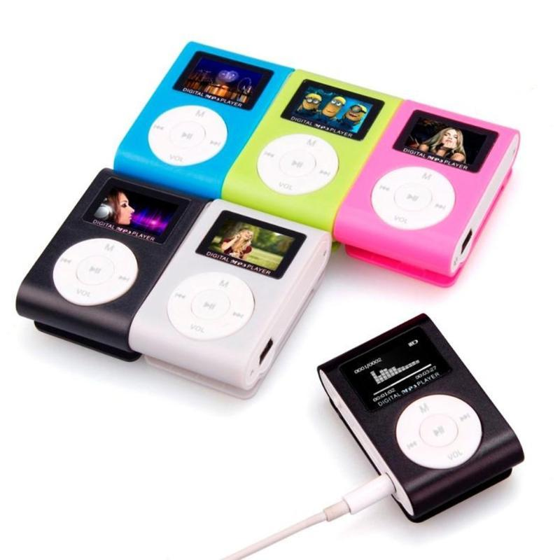 2020 MP3 Player Mini Music Media Clip Player Portable LCD Screen USB Support Micro SD TF Card Walkman Reader