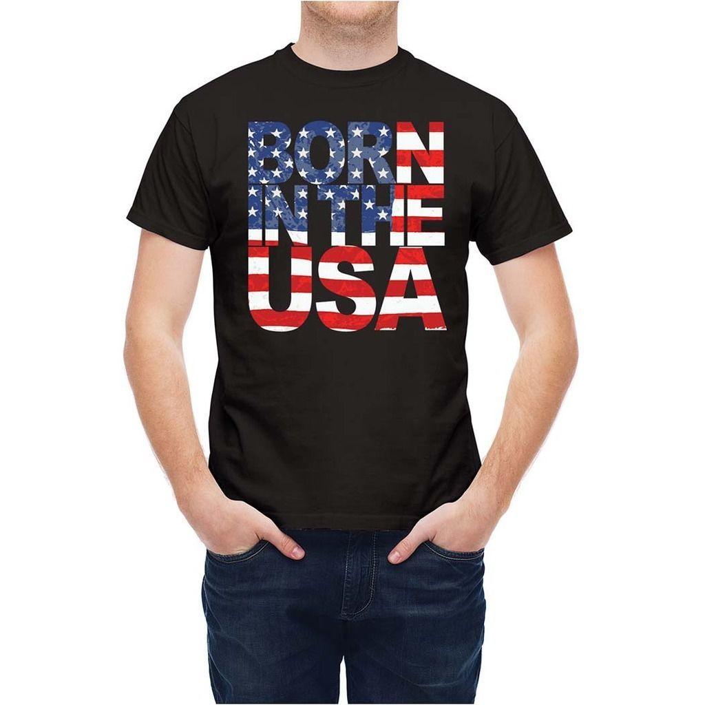 2019 Stylisme Livraison gratuite T-shirt Usa Typographie Drapeau américain T255WW O-Neck Hipster T-shirts