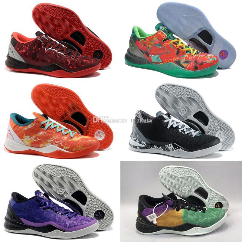 بلاك مامبا 8 أحذية كرة السلة عيد الفصح عيد الميلاد 2012 تمهيدا انعكاس سنة من الأفعى الفلبين TB للبيع DEADSTOCK الخصم حذاء رياضة
