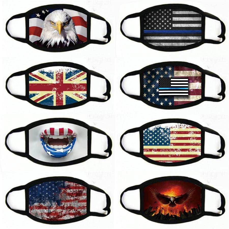 Американский флаг Бразилии Печать Facecover Для мужчин Женщины моющийся многоразовый пыле Национальная маска для лица Global Adult Защитная маска для лица New # 806
