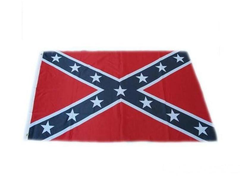 Drapeaux Dixie bataille de la guerre civile Drapeaux nationaux confédéré 150 * 90cm deux côtés Drapeaux imprimés polyester