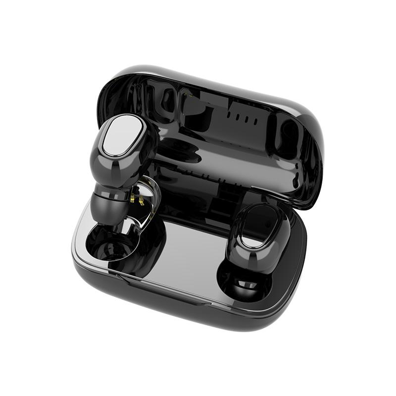 L21 TWS 블루투스 5.0 이어폰 미니 이어폰 무선 헤드폰 케이스 아이폰 샤오 미 Redmi 삼성 안드로이드 IOS 헤드셋