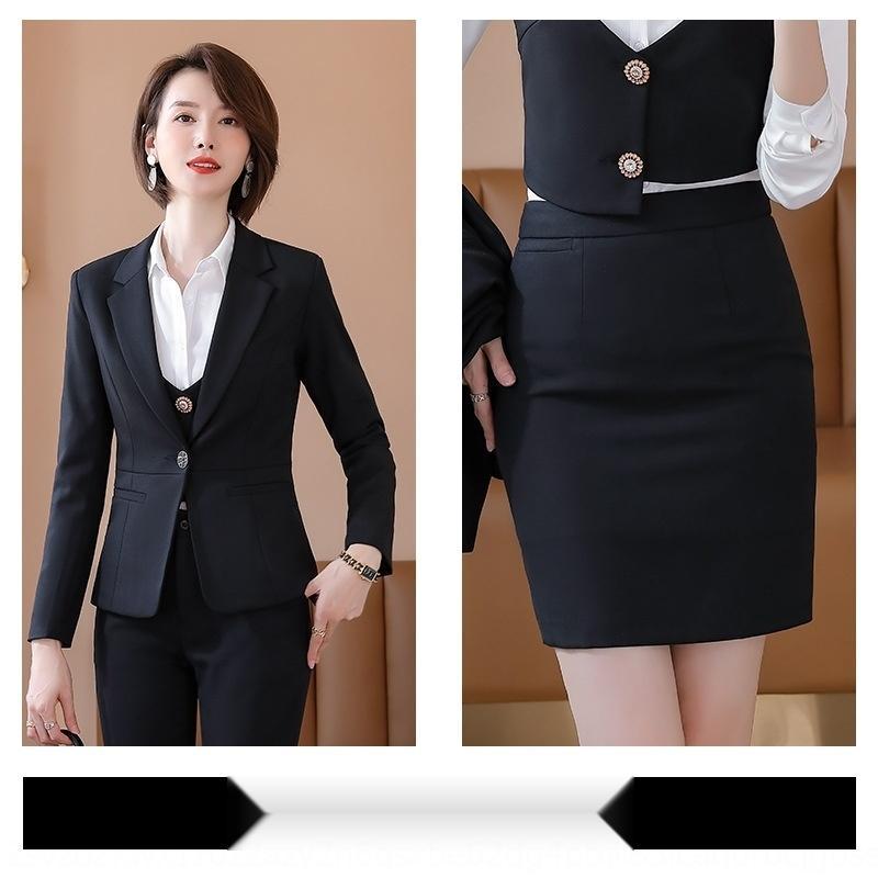 traje sensación verticales OL diosa práctica empresarial ventilador gan profesional de gama alta moda temperamento de la mujer traje de moda de las mujeres TylYp 7