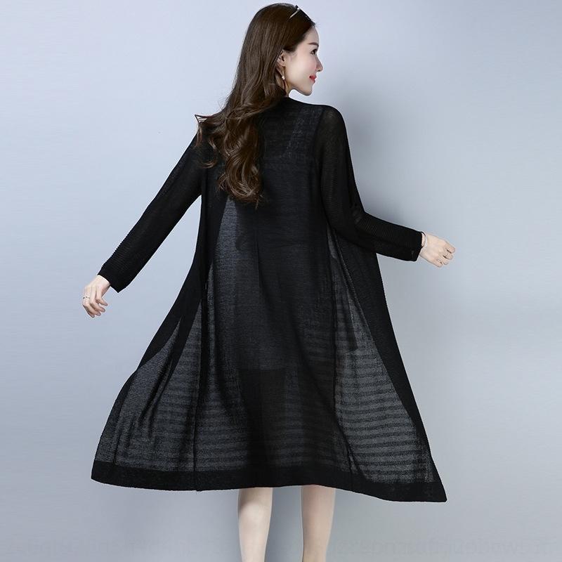 61Rg0 лед SunScreen Женские средней длины летом тонкий кардиган шаль внешний шелк солнцезащитное покрытие кондиционер пальто