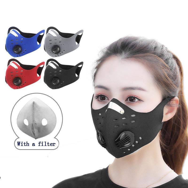 Máscara de cara Respiración anti-niebla Máscara de máscara con ciclantes activados Válvula Válvula a prueba de viento Mascarilla a prueba de polvo a prueba de polvo MHAVC