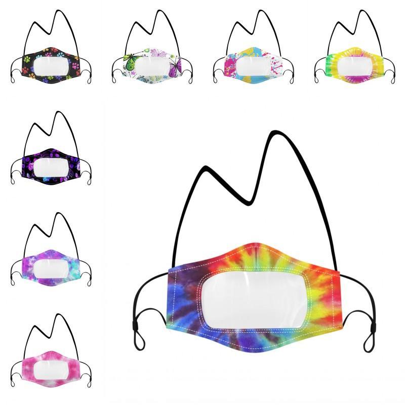 Dil Görünür Yüz Maskeleri DHB1622 Maske Şeffaf Yüz Shield Ağız Açık Koruyucu Maske Ekran Guard Temizle Pencere Dudaklar