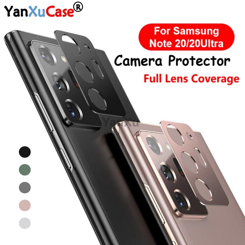 새로운 도착 돌아 가기 카메라 렌즈 보호 금속 링 케이스 삼성 갤럭시 노트 (20) 울트라 렌즈 필름 화면 보호기에 갤럭시 노트 (20)