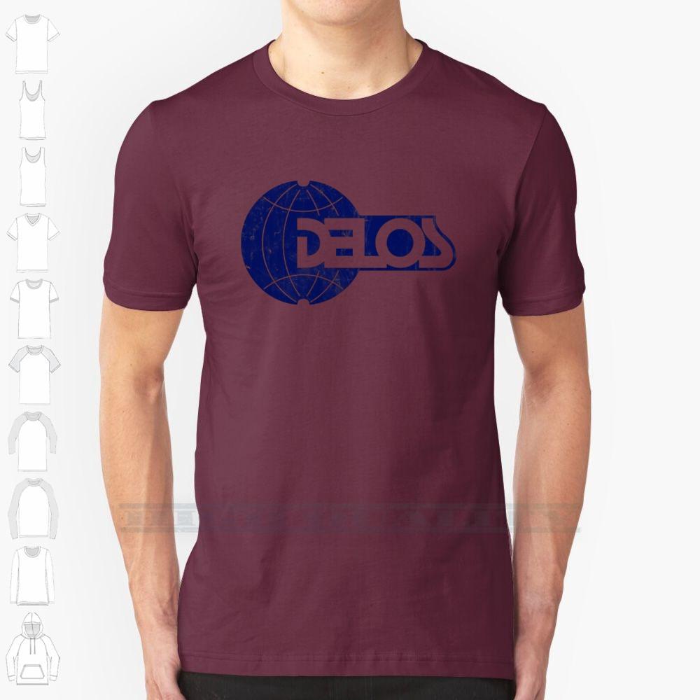 Delos Projete de impressão Para Homens Mulheres Cotton novo fresco T Camisetas Big Size 6xl Westworld ficção científica Sci