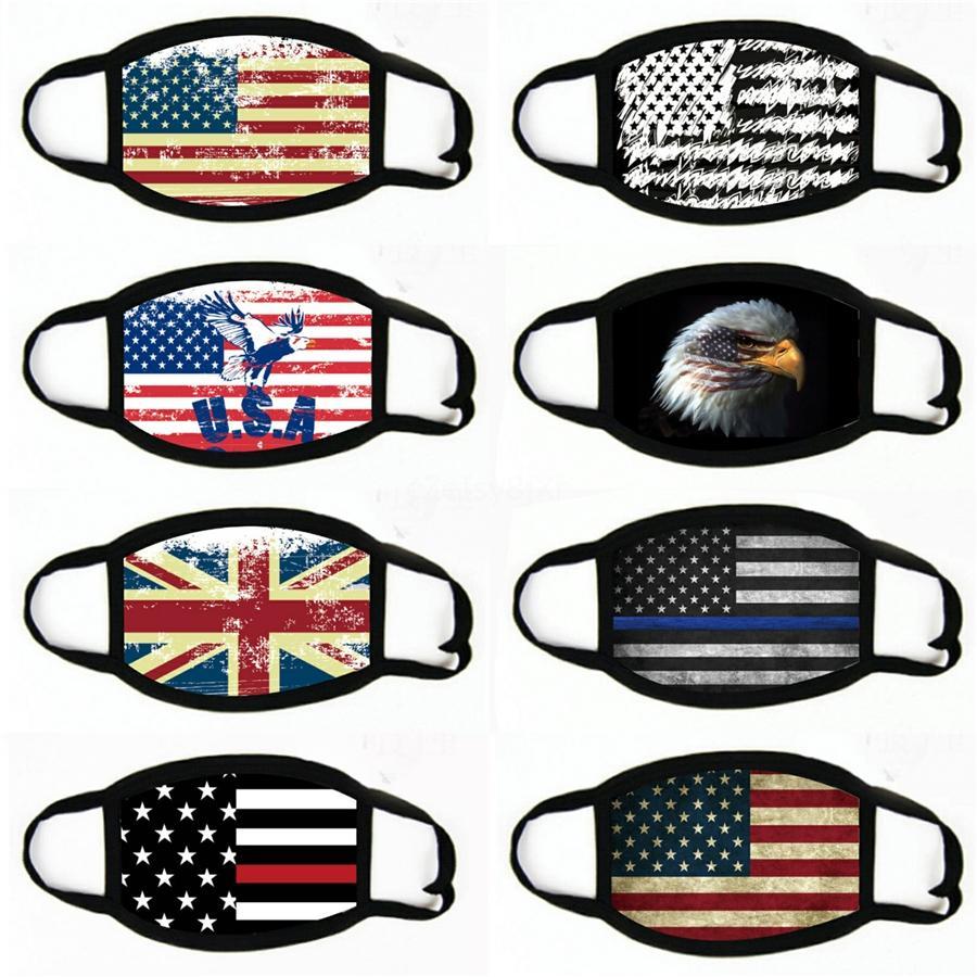 5 Style Face Masques Anti-Dust Coton Femme Hommes Unisexe Mode Hiver Chaud Black Noir US Flag Masque Ljja5220 # 567 Fbuxe