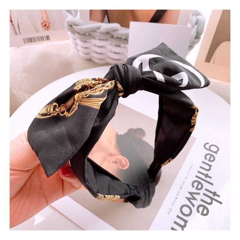 Silk Designer Headband Packaging Designer Hair Accessories for High Quality Made Designer Headband Floral Slik Tropical hair hoop p57