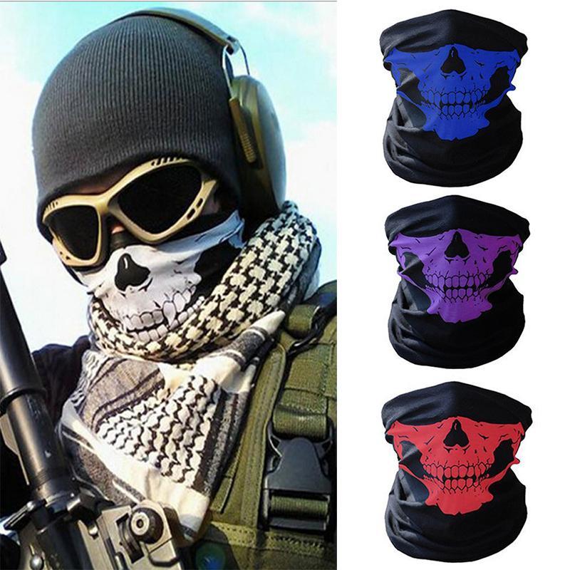 Masken-Schädel magischer Halloween Cosplay Masken Fahrrad Ski Schädel halbe Gesichtsmaske Geist Schal Bandana-Ansatz-Wärmer-Party Stirnband Magie Turban
