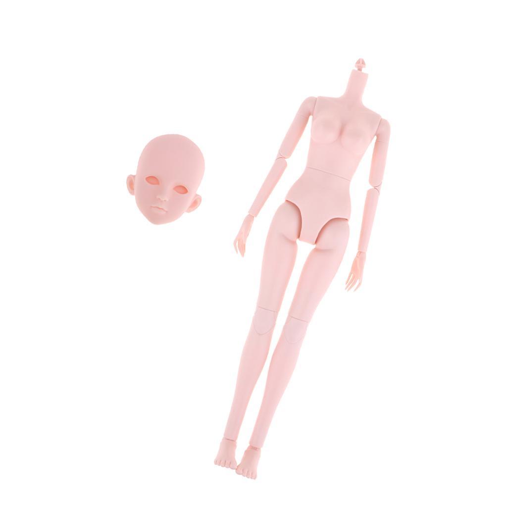 Doll Head Sculpt nue Doll à billes Articulé Doll parties du corps pour 1/4 POUPEES BJD