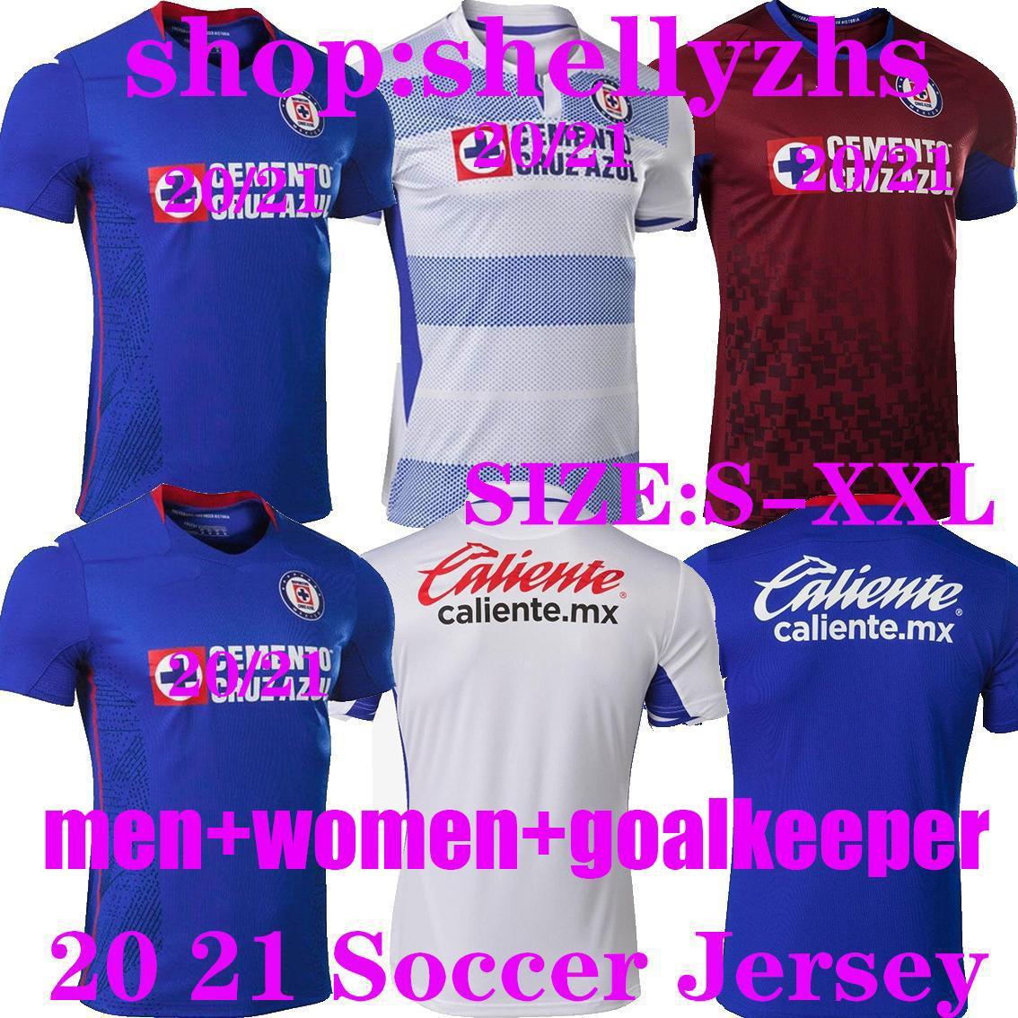2020 CD Cruz Azul FUTBOL FORMALARI adam kadın 20 21 ALVARADO 25 RODRIGUEZ 21 PINEDA 31 ESCOBAR 24 ROMO 7 JERSEY FUTBOL shirt kaleci