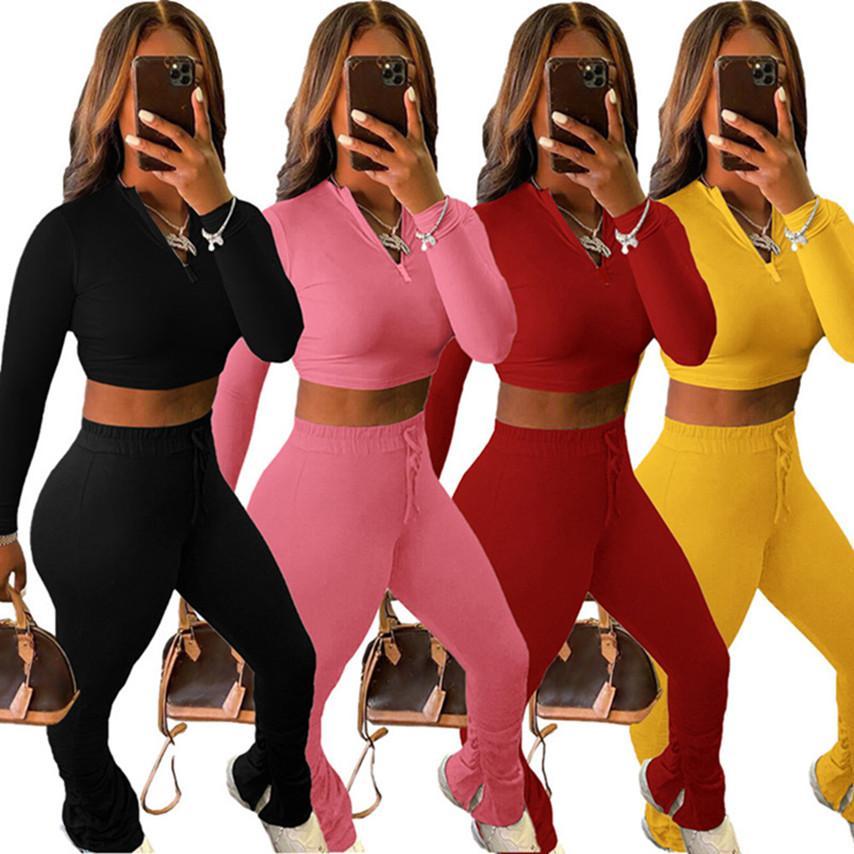 culture femmes en tête de couleur unie s-2XL sport pantalon sweat à capuche collants survêtement pull leggings survêtements tombent vêtements d'hiver DHL 3832