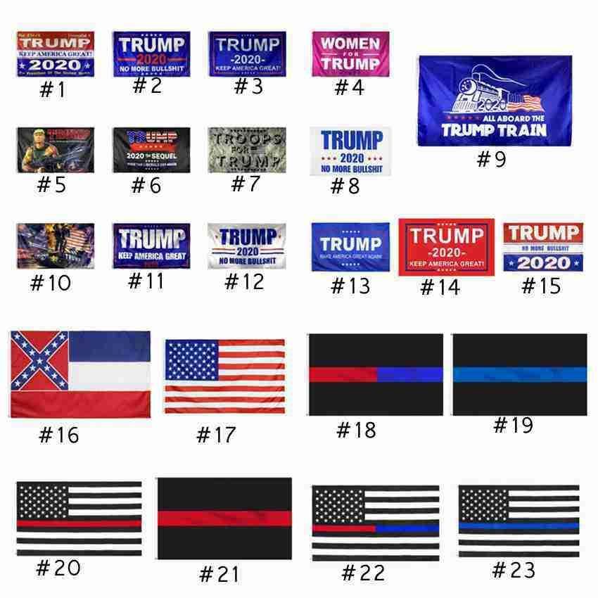 ترامب العلم 90 * 150cm ورقة رابحة 2020 أعلام الاحتفاظ أمريكا العلم العظمى الولايات المتحدة الأمريكية ميسيسيبي الدولة الرئاسي الأمريكي ترامب الانتخابات أعلام الشحن 50Pcs DHL السفينة