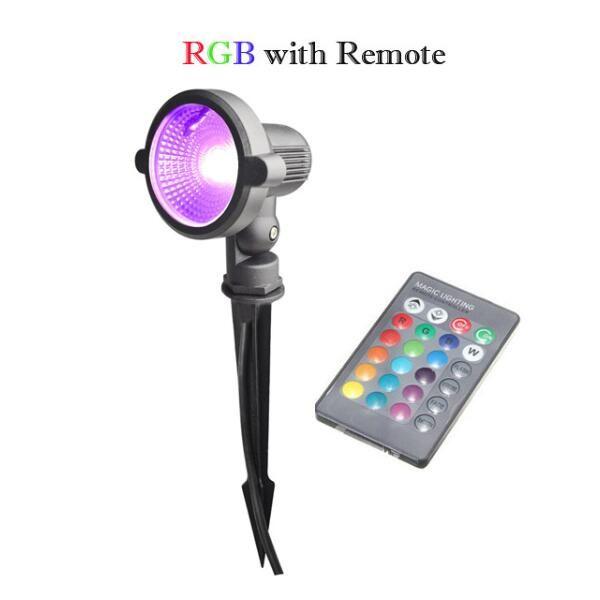 10 Watt Fuori LED Garden Light Spot esterna impermeabile IP65 Illuminazione 12V 220V RGB Warm White Lawn Lampada Illuminazione subacquea 10W con Spike