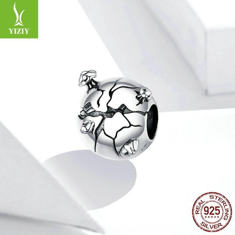 j38da argento rima protegge i 925 creativi elementi di protezione ambientale della Terra Il braccialetto di protezione braccialetto perline SCC1581