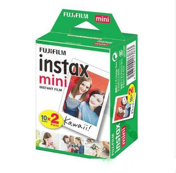 20 Sheets Fujifilm Instax Mini 8 film for Fuji 7s 9 70 25 50s 90 Instant Photo Camera White FilmShare SP-1 SP-2
