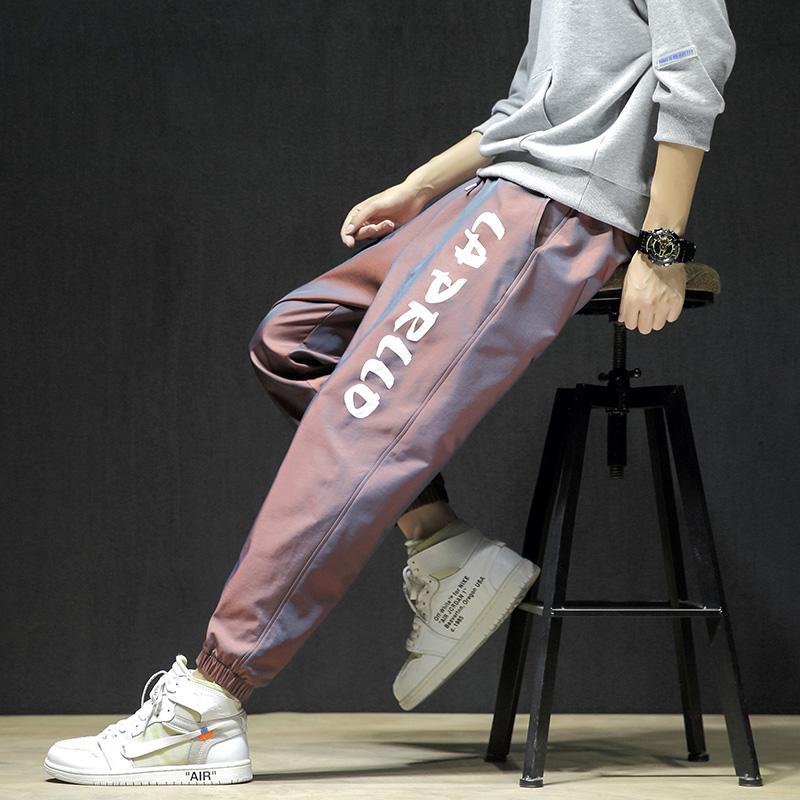 Jugendliche Herbst neue Männer beiläufige Hosen koreanische Version des Trends der Beam-Bein-Hosen der Männer Harem