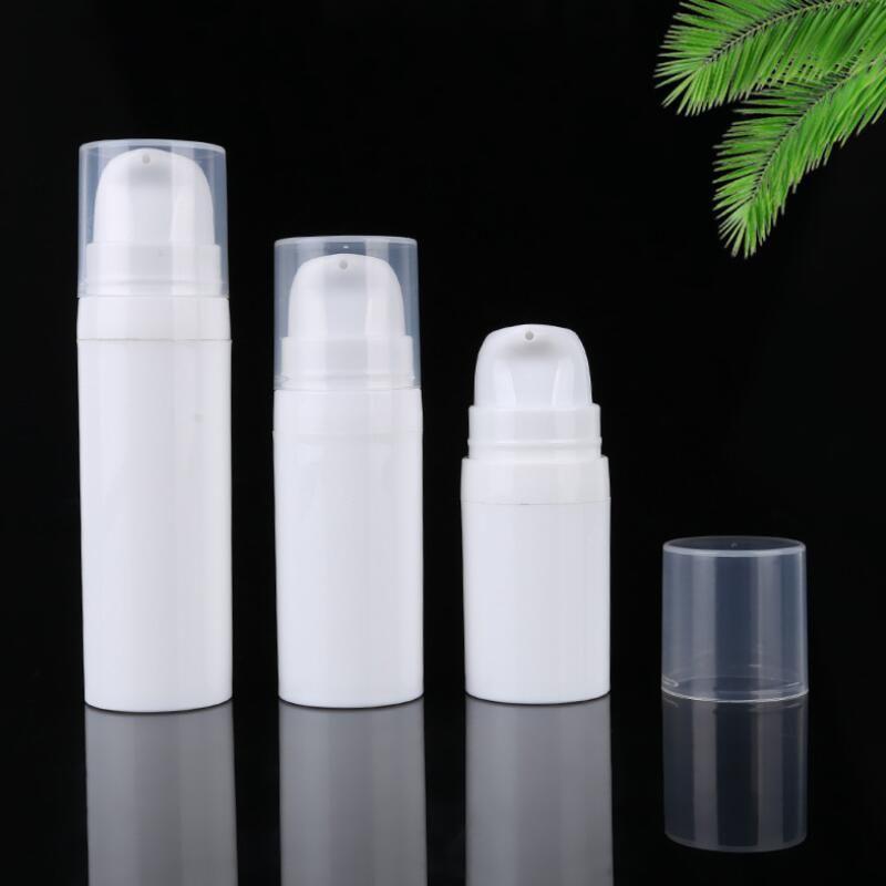 DHE1404 포장 5ml를 10ml의 화이트 에어리스 로션 펌프 병 미니 샘플 및 테스트 병 에어리스 용기 화장품