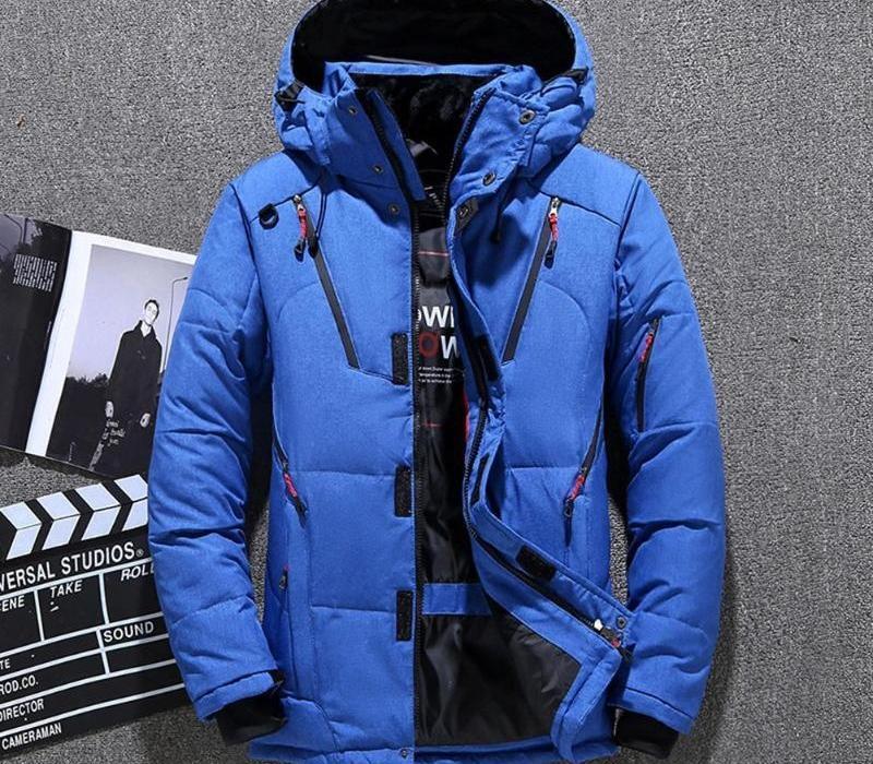 Mens chaqueta de invierno cálido y grueso ajuste corto por la chaqueta de la cremallera capa encapuchada pueden ser lavadas a mano sin wrinkles44