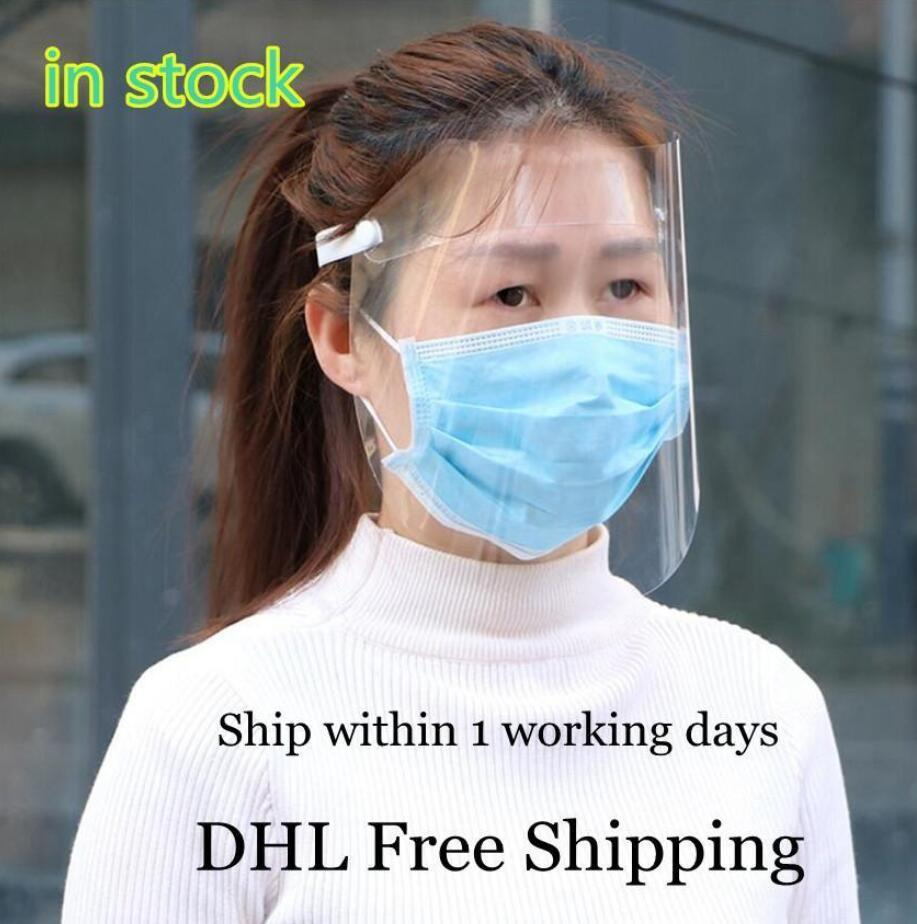 EU Stock ajustável Isolamento claro anti-fog Plastic Adulto completa Rosto respingo Protecção Shields Hat